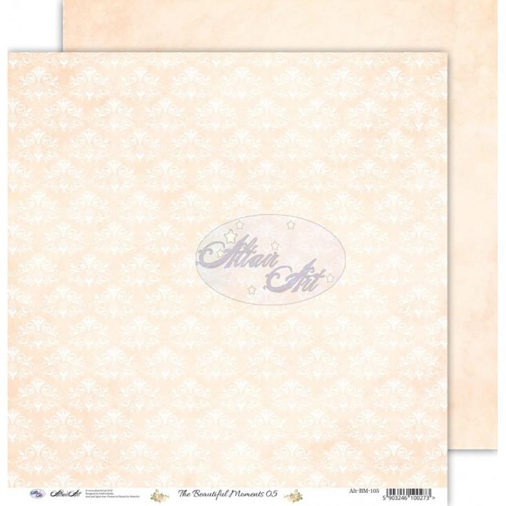 "Scrapbooking paper 12x12"" - The beautiful moments 05 - Altair Art Alt-BM-105"