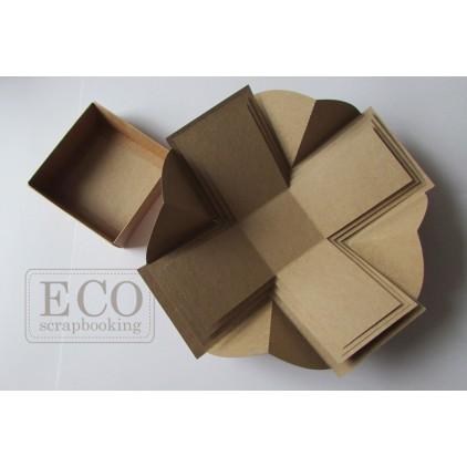 Pudełko exploding box plus 9x9x9 kraft Eco-scrapbooking