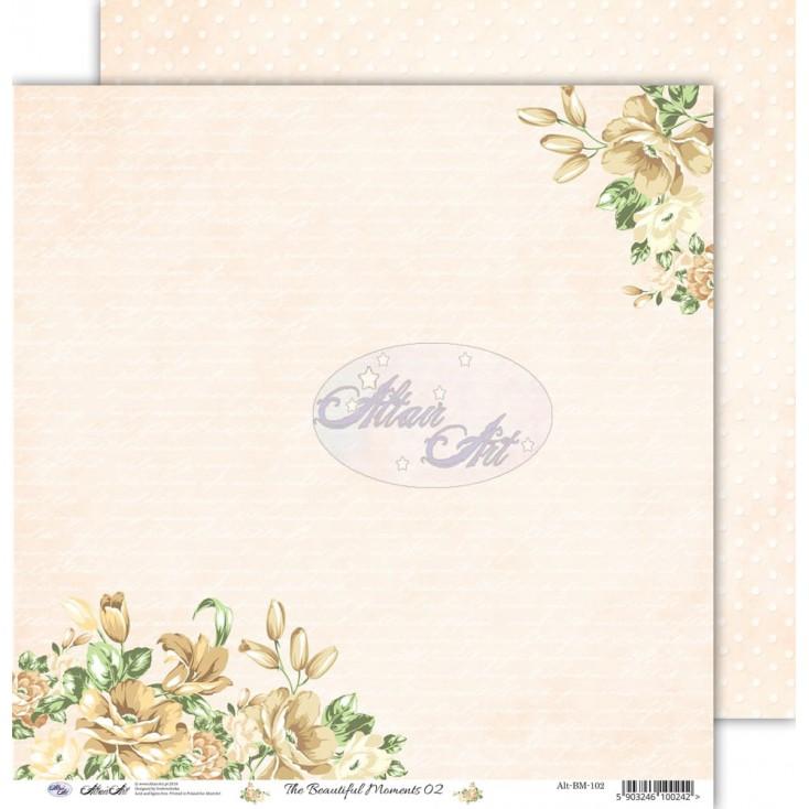 "Scrapbooking paper 12x12"" - The beautiful moments 02 - Altair Art Alt-BM-102"