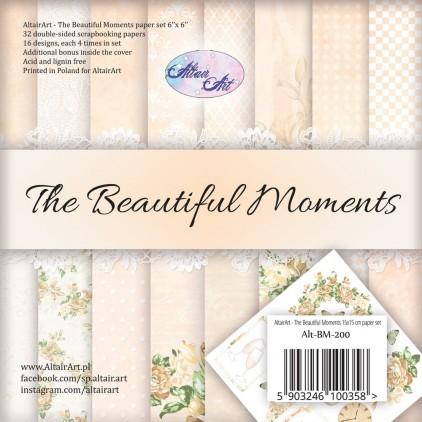 Bloczek papierów 15x15cm - The beautiful moments - Altair Art Alt-BM-200