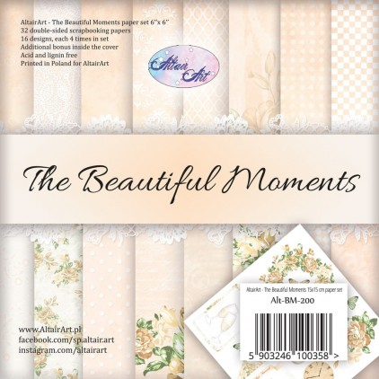 Scrapbooking paper pad 15x15cm - The beautiful moments - Altair Art Alt-BM-200