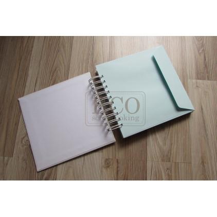 Baza albumowa koperty niebieskie - 17,5 x 17,0 Eco-scrapbooking