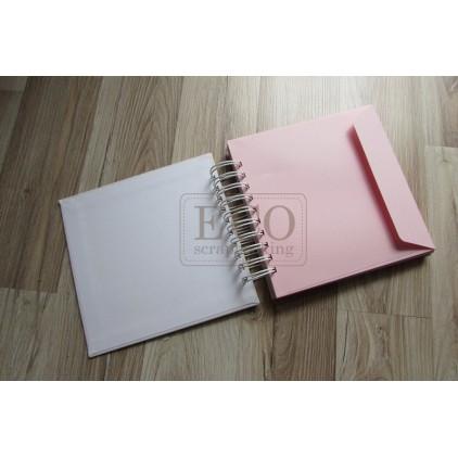Album base of pink envelopes - 17.5 x 17.0 Eco-scrapbooking