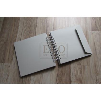 Baza albumowa koperty białe - 17,5 x 17,0 Eco-scrapbooking