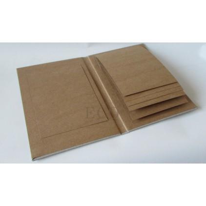 Baza albumowa kaskadowa pionowa kraft - 15 x 23 - Eco-scrapbooking