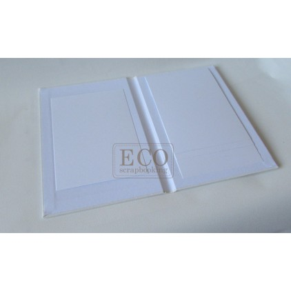 Album base cascade vertical white - 15 x 23 - Eco-scrapbooking