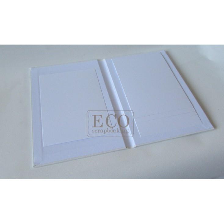 Baza albumowa kaskadowa pionowa biała - 15 x 23 - Eco-scrapbooking