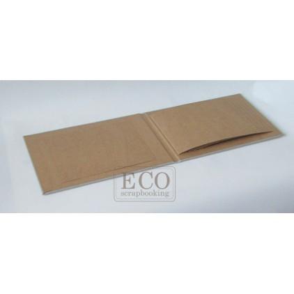 Baza albumowa kaskadowa piozioma kraft - 15 x 23 - Eco-scrapbooking