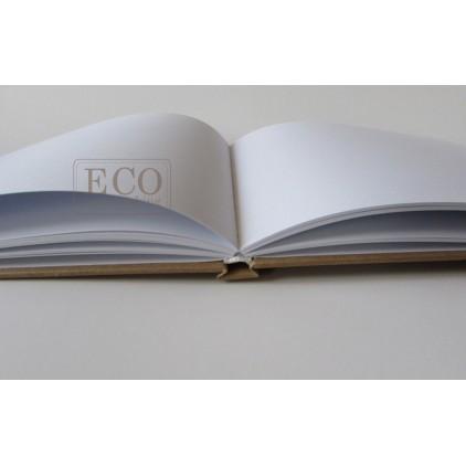 Księga gości - album A4 okładka kraft białe kartki- Eco-scrapbooking
