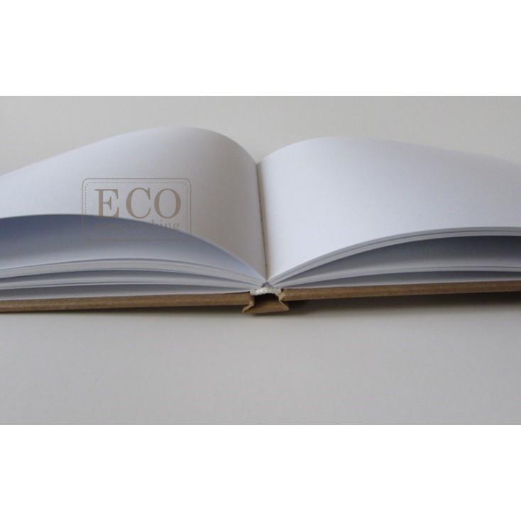 Księga gości - album A4 okładka kraft - Eco-scrapbooking