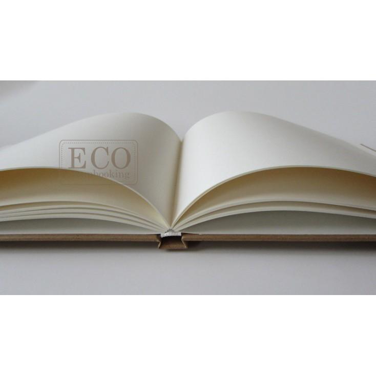 Księga gości - album A4 okładka kraft kremowe karty- Eco-scrapbooking
