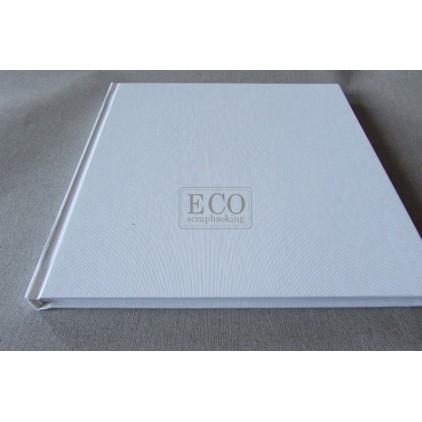 Księga gości - album 21,0 x 21,0 okładka biała okleina, białe kartki- Eco-scrapbooking