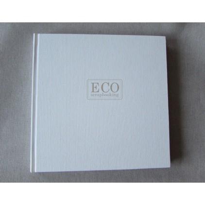 Księga gości - album 21,0 x 21,0 okładka biała, białe kartki- Eco-scrapbooking