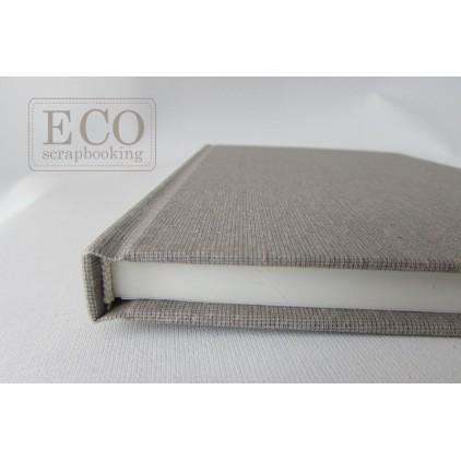 Księga gości - album 21,0 x 21,0 okładka płótno naturalne, kremowe kartki- Eco-scrapbooking