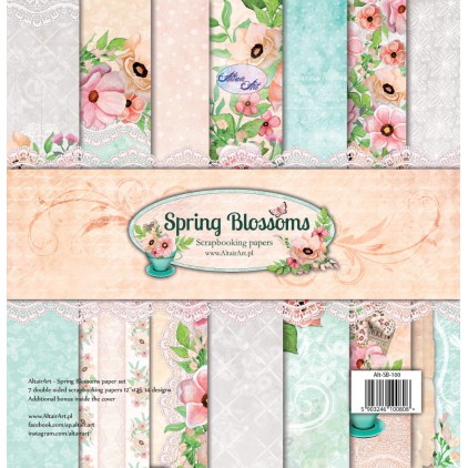 Papiery do scrapbookingu - Spring Blossoms - Altair Art Alt-SB-100