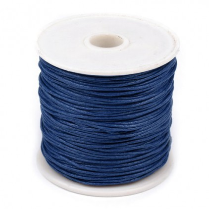 Waxed twine - navy blue - Ø1mm - one spool