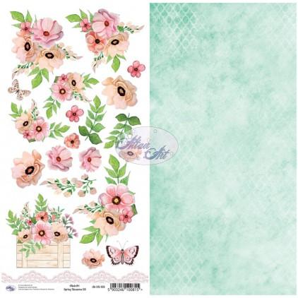 Scrapbooking paper 30x15cm - Spring Blossoms 08 - Altair Art Alt-SB-108