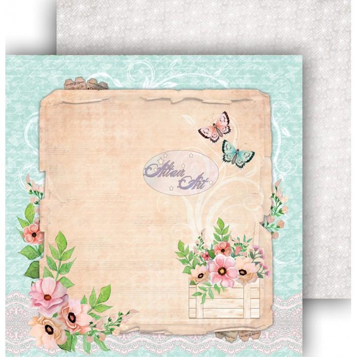 "Scrapbooking paper 12x12"" - Spring Blossoms 07 - Altair Art Alt-SB-107"
