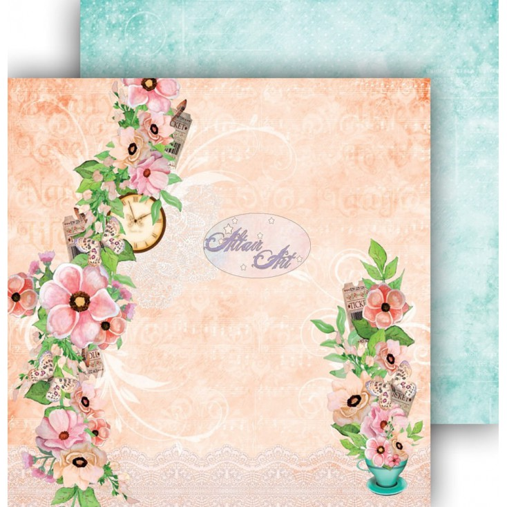 "Scrapbooking paper 12x12"" - Spring Blossoms 06 - Altair Art Alt-SB-106"