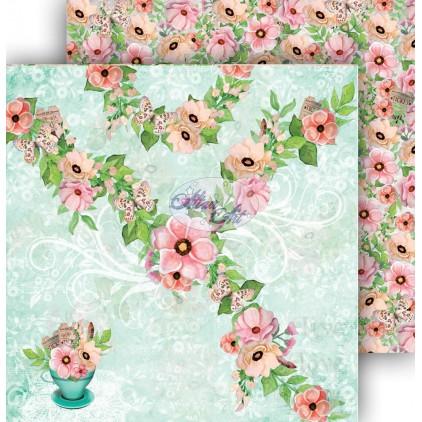 Papier do scrapbookingu 30,5x30,5cm - Spring Blossoms 05 - Altair Art Alt-SB-105