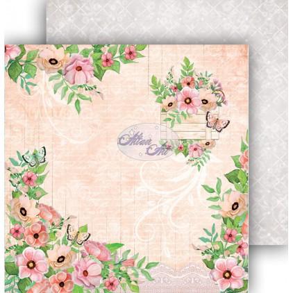 Papier do scrapbookingu 30,5x30,5cm - Spring Blossoms 04 - Altair Art Alt-SB-104