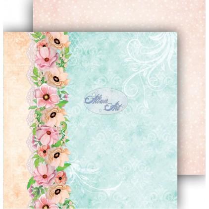 Papier do scrapbookingu 30,5x30,5cm - Spring Blossoms 03 - Altair Art Alt-SB-103