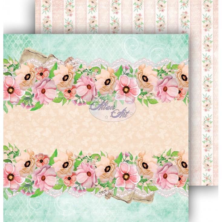 Papier do scrapbookingu 30,5x30,5cm - Spring Blossoms 02 - Altair Art Alt-SB-102