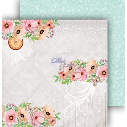 Papier do scrapbookingu 30,5x30,5cm - Spring Blossoms 01 - Altair Art Alt-SB-101
