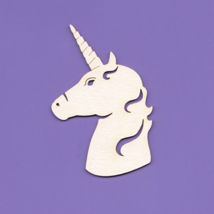 1014 - laser cut, chipboard unicorn - head Crafty Moly