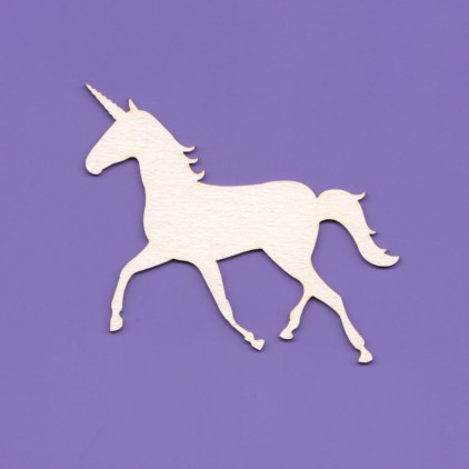 1015 - laser cut, chipboard unicorn 01 Crafty Moly