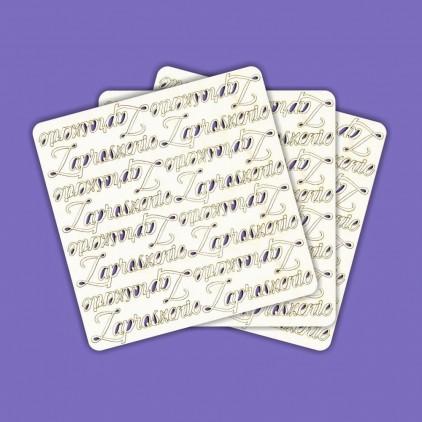 743 - tekturka napis Zaproszenie - 48 szt. Crafty Moly