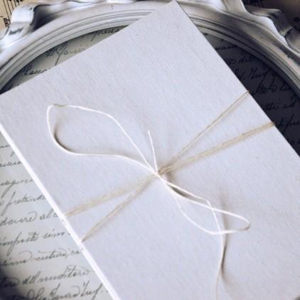 Baza albumowa harmonijkowa okładka biała płtótno, karty szare - 11,5 x 16,5 - Eco-scrapbooking