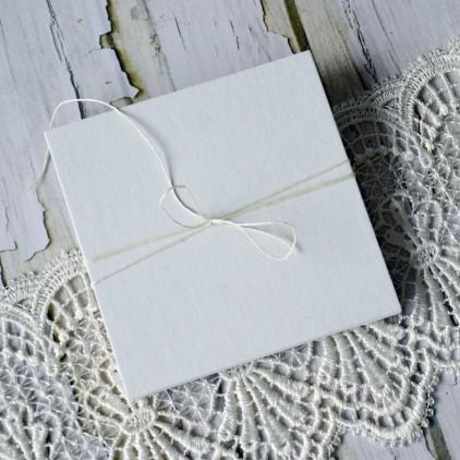 Baza albumowa harmonijkowa okładka biała płtótno, karty szare - 13,5 x 13,5 - Eco-scrapbooking