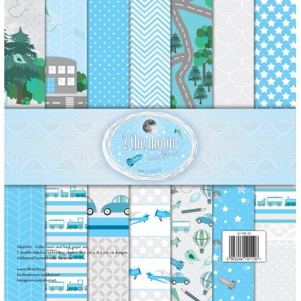 Scrapbooking paper set - 2 the moon and back - Altair Art Alt-TMB-100