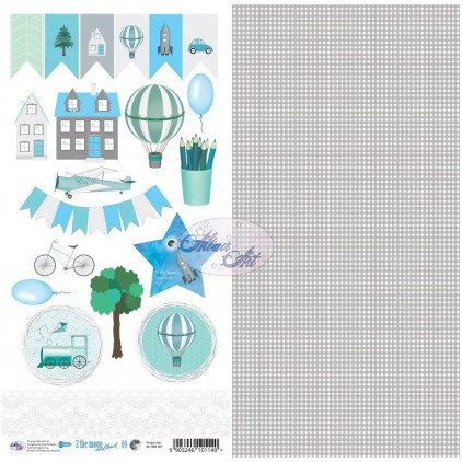 Scrapbooking paper 30x15cm - 2 the moon and back 09 - Altair Art Alt-TMB-109