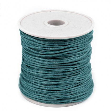 Waxed twine - lagoon - Ø1mm - one spool