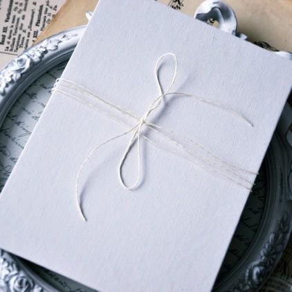 Baza albumowa harmonijkowa okładka biała płtótno, karty szare - 14,5 x 19,5 - Eco-scrapbooking