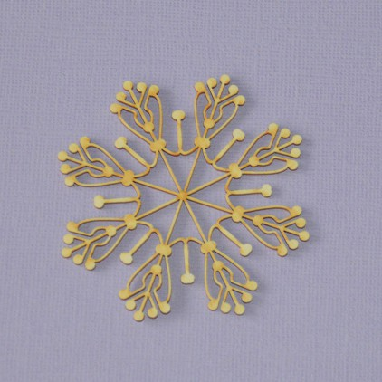 535 - Laser cut, chipboard Winter collection - Snowflake 1 Crafty Moly