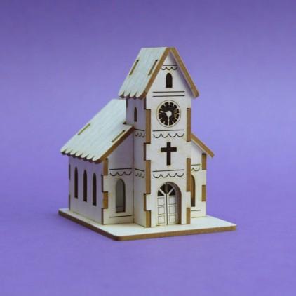 1348 tekturka 3D zimowy kościół - Crafty Moly