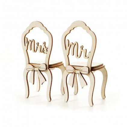 1468 - Laser cut, chipboard wedding chairs - Crafty Moly
