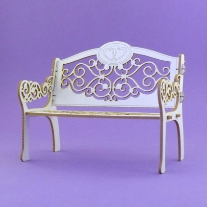 997 - laser cut, chipboard bench - Crafty Moly