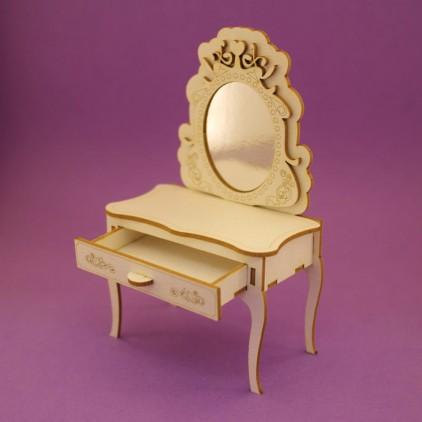 1117 tekturka 3D toaletka z lustrem - Crafty Moly