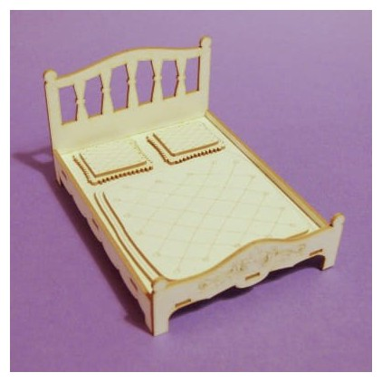 885 - Laser cut, chipboard bed - Crafty Moly