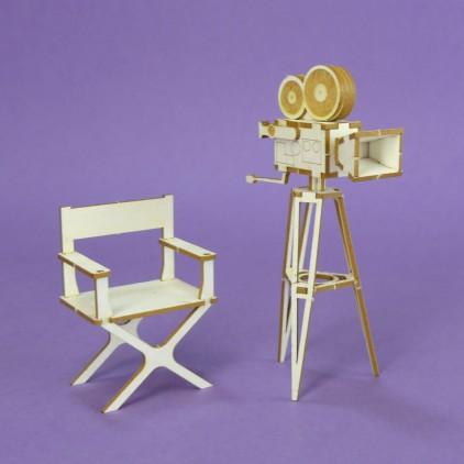 1370 tekturka 3D stara kamera - Crafty Moly