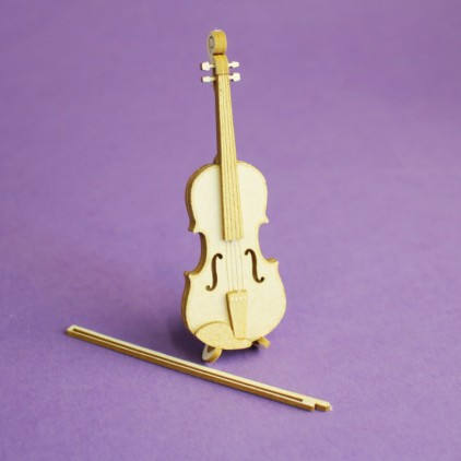 1404- Laser cut, chipboard violin - Crafty Moly