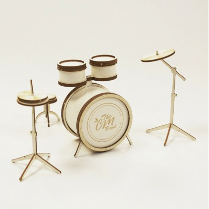 1007 - laser cut, chipboard drums - Crafty Moly