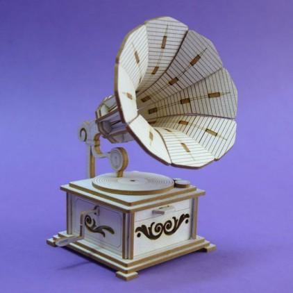 1335 tekturka 3D patefon - Crafty Moly