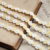 Decorative lace trim - white-vanilla - 1 meter