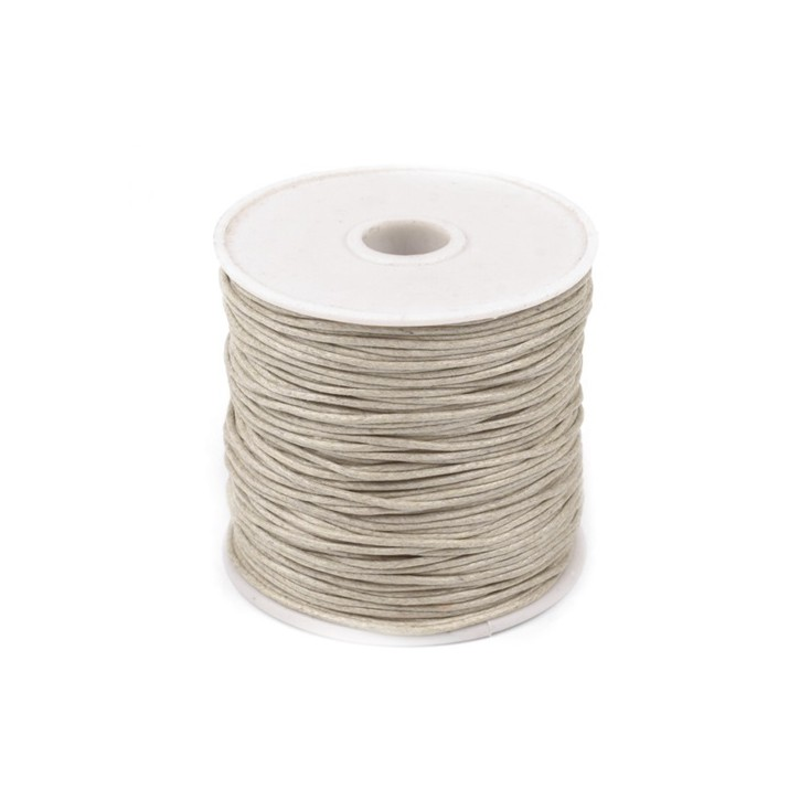Cotton Waxed Cord - Ø1mm - one spool - sand shell