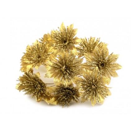 Kwiatki złote chryzantemy